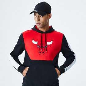 12195397_Sweat à capuche NBA Chicago Bulls New Era Color Block Hoody Rouge pour homme