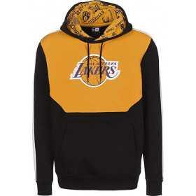 12195396_Sweat à capuche NBA Los Angeles Lakers New Era Color Block Hoody Jaune pour homme