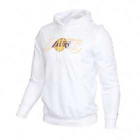 12033465_Sweat à capuche NBA Los Angeles Lakers New Era Graphic Overlap Hoody Blanc pour homme