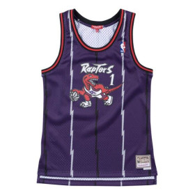 Maillot NBA Tracy McGrady Toronto Raptors Hardwood Classics Mitchell & ness Violet pour femme