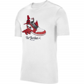 CN3596-100_T-shirt Jordan Brand 1 Blanc pour Homme