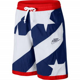 CK6311-492_Short de Basket Nike Dri-fit Throwback Bleu