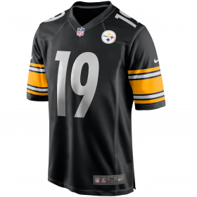 Maillot NFL JuJu Smith-Schuster Pittsburgh Steelers Nike Game Team colour Noir