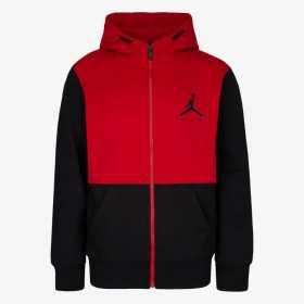 Sweat zippé à capuche Jordan Jumpman Air Fleece Rouge pour Junior