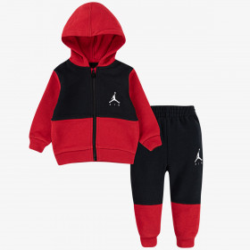Sudadera y pantalone Jordan Jumpman Air Fleece rojo para nino