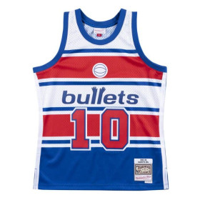 Camiseta NBA Manute Bol Washington Bullets 1985-86 Mitchell & ness Hardwood Classics azul