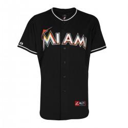 Majestic Replica Jersey Miami Marlins Noir