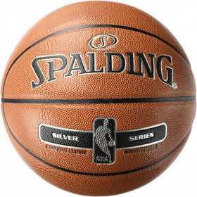 Ballon de Basketball intérieur Spalding NBA Silver Series Orange