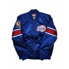 Veste NBA Los Angeles Clippers Mitchell & Ness Heavyweight Satin Bleu