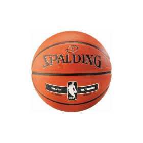 Ballon de Basketball Spalding NBA Silver Series Exterieur Orange