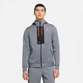 Sudadera Jordan Fleece Full-Zip Hoodie Gris para hombre