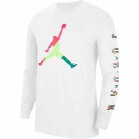 T-shirt mangas largas Jordan Sport DNA blanco