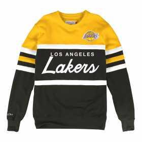 Sweat NBA Los Angeles Lakers Mitchell & Ness Head Coach Crew Jaune