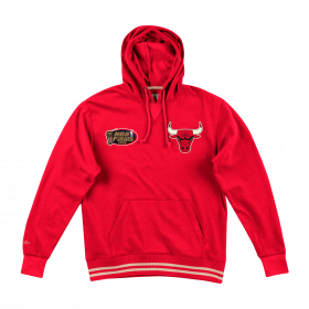 Sweat à capuche NBA Chicago Bulls Mitchell & Ness Bat Around Rouge pour homme