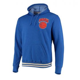 Sweat à capuche NBA New York Knicks Mitchell & Ness Bat Around Bleu pour homme