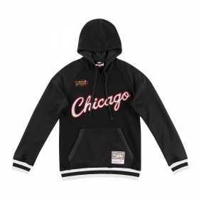 Sweat à capuche NBA Chicago Bulls Mitchell & Ness Gametime Noir pour homme