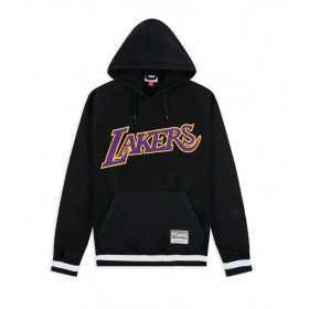 Sweat à capuche NBA Los Angeles Lakers Mitchell & Ness Gametime Noir pour homme