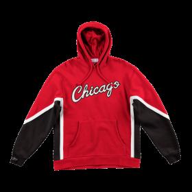 Sudadera NBA Chicago Bulls Mitchell & Ness Final Seconds Fleece Hoody rojo para hombre