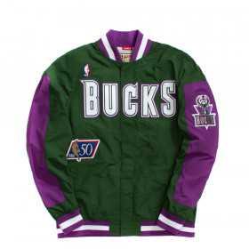 Warm up NBA Milwaukee Bucks 1996-97 Mitchell & Ness Authentic Jacket Vert