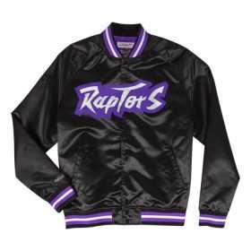 Veste NBA Toronto Raptors Mitchell & Ness Lightweight satin Noir