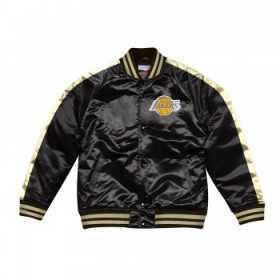 Veste NBA Los Angeles Lakers Mitchell & Ness Color Blocked satin Noir