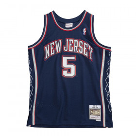 Camiseta NBA Jason Kidd New Jersey Nets 2006-07 Mitchell & ness Harwood Classic Azul