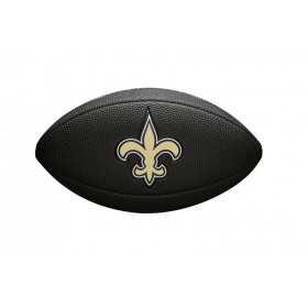 Mini Ballon de Football Américain Wilson NFL team logo New Orleans Saints Noir