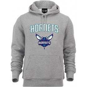 Sweat à Capuche NBA Charlotte Hornets New Era Team logo Gris pour Homme