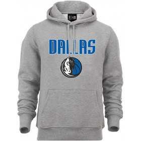 Sweat à Capuche NBA Dallas Mavericks New Era Team logo Gris pour Homme