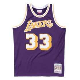 Maillot NBA Kareem Abdul-Jabbar Los Angeles Lakers 1983-84 Hardwood Classics Mitchell & ness violet