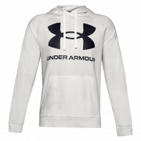 Sweat à capuche Under armour Rival Fleece Big Logo Hoodie Blanc