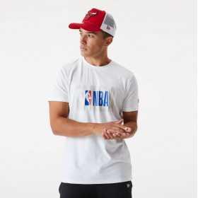 T-Shirt NBA New Era Logo Blanc Pour Homme