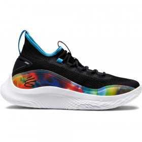 """Chaussure de Basketball Under Armour Curry 8 """"PRNT"""" Noir GS pour junior"""