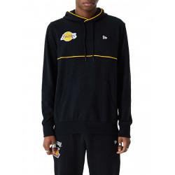 Men's New Era Piping PO Hoody NBA Los Angeles Lakers Black