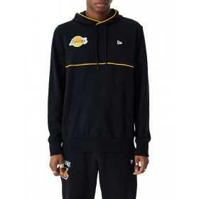 Sweat à Capuche NBA Los Angeles Lakers New Era Piping PO Hoody Noir pour Homme