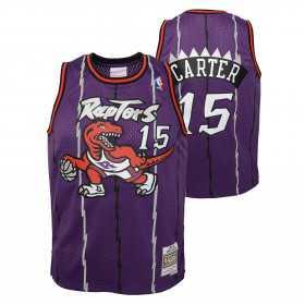 Kid's Mitchell & Ness Hardwood Classic NBA Jersey Vince Carter Toronto Purple Raptors 1998 Purple