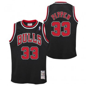 Kid's Mitchell & Ness Hardwood Classic NBA Jersey Scottie Pippen Chicago Bulls 1997 Black
