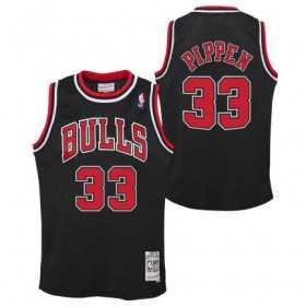 Maillot NBA Scottie Pippen Chicago Bulls 1997 Mitchell & Ness Hardwood Classic Noir Pour enfant