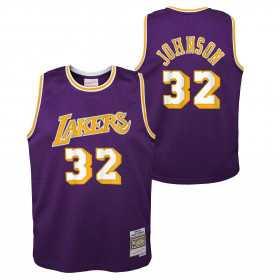 Maillot NBA Magic Johnson Los Angeles Lakers 1984 Mitchell & ness Hardwood Classic Violet Pour enfant