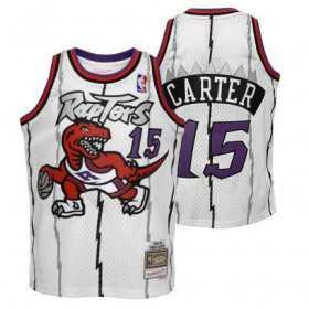 Kid's Mitchell & Ness Hardwood Classic NBA Jersey Vince Carter Toronto Purple Raptors 1998 White
