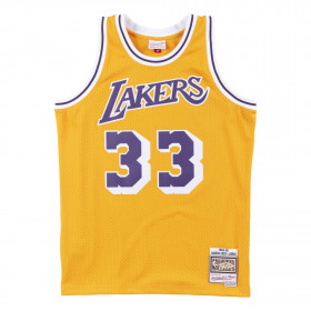 Maillot NBA Kareem Abdul-Jabbar Los Angeles Lakers 1984-85 Mitchell & ness Hardwood Classics Jaune