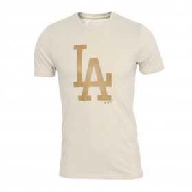 Men's T-Shirt MLB Los Angeles Dodgers New Era Seasonal Team logo Beige