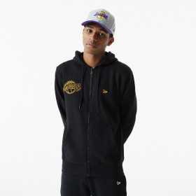 Sweat Zippé NBA Los Angeles Lakers New Era Chain Stitch Noir pour homme