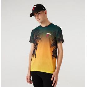 T-Shirt NBA Miami Heat New Era Summer city Noir pour Homme