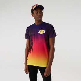 T-Shirt NBA Los Angeles Lakers New Era Summer city Bleu pour homme