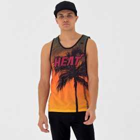 Débardeur NBA Miami Heat New Era Summer City Noir pour homme