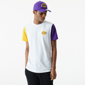 Men's New Era NBA Color Block T-shirt Los Angeles Lakers White