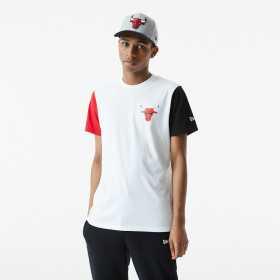 T-Shirt NBA Chicago Bulls New Era Color Block Blanc Pour Homme