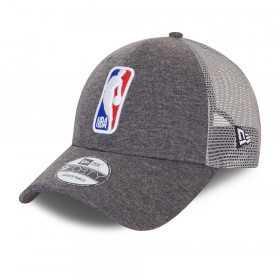Casquette NBA Logo New Era Home Field 9Forty Trucker Gris