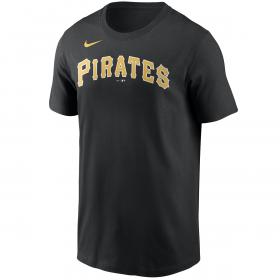 Men's Nike Wordmark T-shirt MLB Pittsburgh Pirates Black